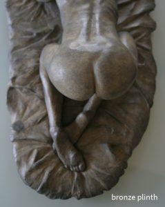 bronze plinth
