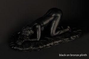 black on bronze plinth