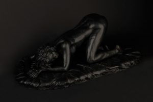 black on bronze plinth