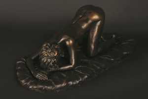 penny bronze on bronze plinth